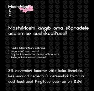 MoshiMoshi Facebooki mäng!